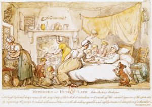 Miseries of Human Life' Introductory Dialogue by Thomas Rowlandson