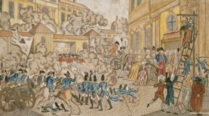 The Terrible Night in Paris 1792 by French School