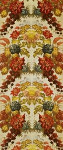Textile with a repeating floral pattern c.1740 by French School