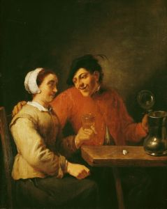 Drinkers by Adriaen Brouwer