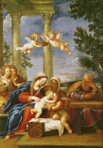 The Holy Family with St. Elizabeth and St. John the Baptist c.1645 by Francesco Albani