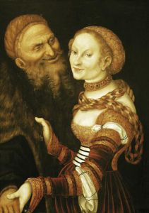 The Courtesan and the Old Man c.1530 by Lucas Cranach