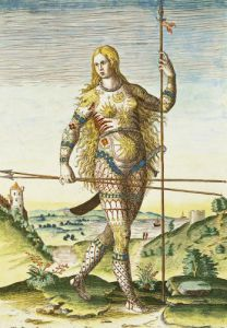 Pictish woman from 'Admiranda Narratio...' by John White