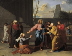 Christ and the Canaanite Woman 1783 by Jean-Germain Drouais
