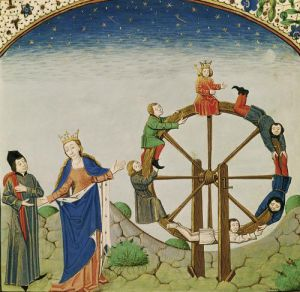 Boethius with the Wheel of Fortune by French School