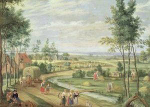 The Harvest by Isaak van Oosten