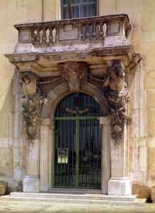 View of the museum entrance with Atlantes by Pierre Puget