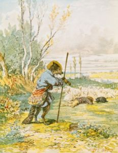 The Wolf as a Shepherd from the 'Fables' by Jules David