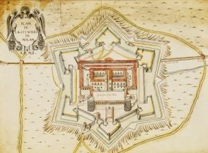 Plan of the citadel of Milan by French School