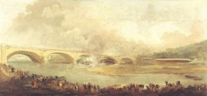Unveiling of the Pont de Neuilly 1772 by Hubert Robert