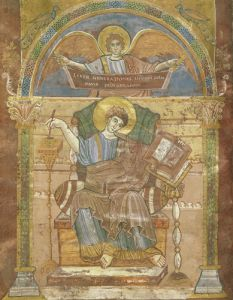 St. Matthew from the Gospel of St. Riquier by French School
