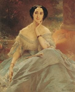 Portrait of the Countess of Hallez-Claparede 1857 by Claude-Marie Dubufe