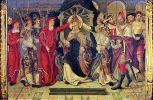 Coronation of Pope Celestine V by French School