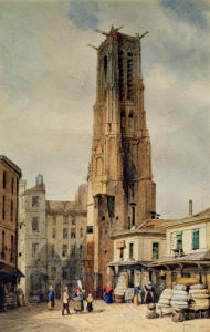 Tour Saint-Jacques by Francois Etienne Villeret