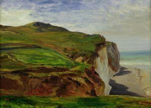 Cliffs by Louis Eugene Gabriel Isabey