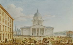 View of the Church of St. Genevieve the Pantheon by Victor Jean Nicolle