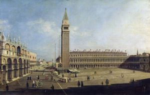 Piazza San Marco Venice by Giovanni Canaletto
