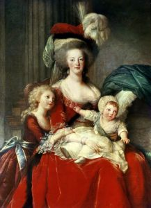 Marie-Antoinette and her Four Children 1787 (Detail) by Marie Elisabeth Louise Vigee-Lebrun