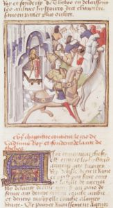 Cadmus founder of Thebes from Des Hommes Illustres by Master of the Champion des Dames