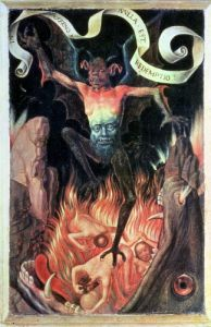 Hell right panel from the Triptych of Earthly Vanity c.1485 by Hans Memling
