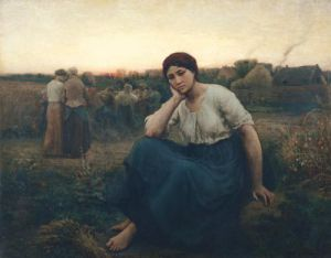 Evening 1860 by Jules Adolphe Breton