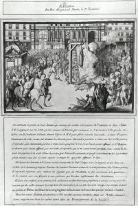 The Execution of Pere Jean Guigard 1595 by French School
