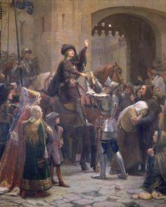 Joan of Arc Leaving Vaucouleurs 1429 by Jean-Jacques Scherrer