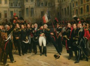 Napoleon I bidding Farewell to the Imperial Guard in the Cheval-Blanc Courtyard by Antoine Alphonse Montfort