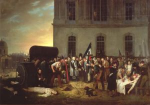 Burial of the Victims of the July Revolution 1830 by Jean Alphonse Roehn