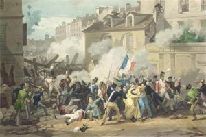 Defence of a Barricade 1830 by French School