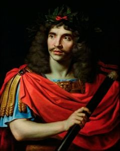 Moliere in the Role of Caesar in 'The Death of Pompey' by Nicolas Mignard