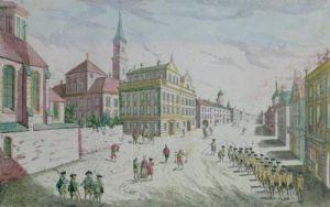 Rue des Recolets Quebec from Collection des Prospects by Franz Xavier Habermann