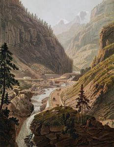 View of the New Simplon Pass 1811 by Mathias Gabriel Lory