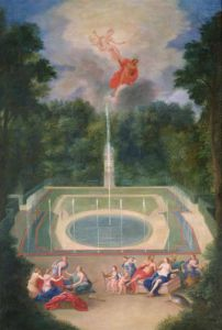 The Groves of Versailles with Mars and Venus 1688 by Jean Cotelle the Younger
