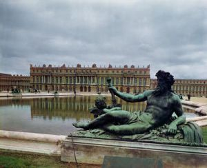 The Rhone fountain by Jean-Baptiste Tuby by French School