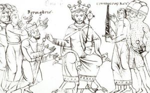 Otto I Submitting to Berenger II and the Triumph of Italy by German School