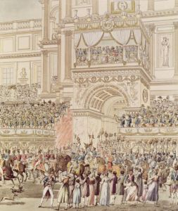 The Emperor and the Empress Receiving the Homage of the French Troops by Pierre Francois Leonard Fontaine