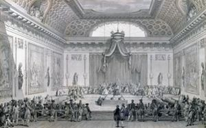 Assemblee des Notables Presided over by Louis XVI by Jean Michel Moreau the Younger