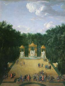 The Groves of the Baths of Apollo in the Gardens of Versailles 1713 by Pierre-Denis Martin