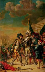 Henri II Giving the Chain of the Order of Saint-Michel to Gaspard de Saulx by Nicolas Guy Brenet