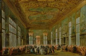Doge Alvise Mocenigo IV Giving a Banquet for the Ambassadors 1776 by Francesco Guardi