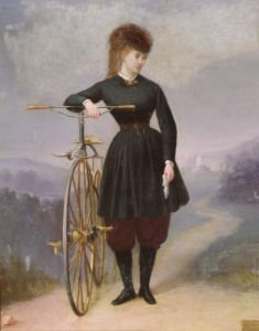 Blanche d'Antigny and her Velocipede by Betinet