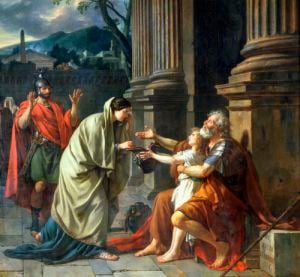 Belisarius Begging for Alms 1781 by Jacques-Louis David