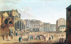 View of Saint-Germain-l'Auxerrois c.1802 by Thomas Naudet