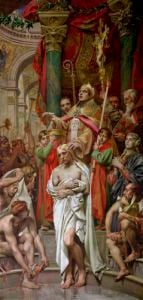 The Baptism of Clovis I by Joseph Paul Blanc