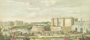 View of the Bastille and the Porte Sainte-Antoine by Jacques Rigaud