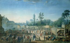View of the Tuileries from the Place de la Revolution 1799 by Thomas Naudet