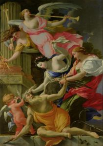 Time Vanquished by Love Venus and Hope c.1645 by Simon Vouet
