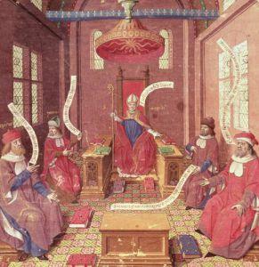 St. Augustine Epicurus Zeno Antiochus and Varron by Jacques de Besancon