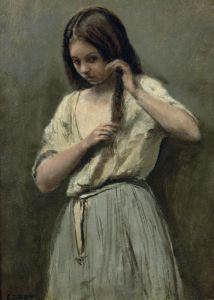 Young Girl at her Toilet by Jean-Baptiste-Camille Corot